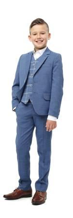 Luis Boys 3pc Suit - Blue